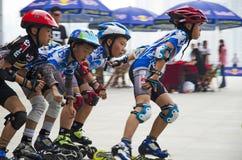Junior Roller Skating Stockbilder