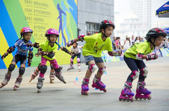 Junior Roller Skating Stockfotografie