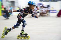 Junior Roller Skating Stockbild