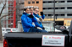Junior Royalty bij de Winter Carnaval Royalty-vrije Stock Afbeelding