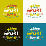 Junior rugby team emblem Royalty Free Stock Image