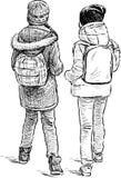 Junior schoolgirls Stock Image