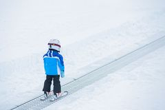 Junior skier. Royalty Free Stock Photography