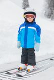 Junior skier in the ski school. Stock Photography