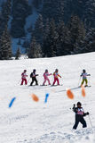 Junior skiers Royalty Free Stock Images