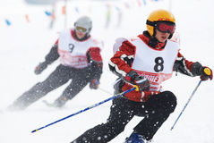 Junior skiers Stock Photography