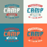 Junior sports training camp emblem. Graphic design for t-shirt royalty free illustration