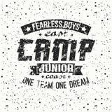 Junior sports training camp emblem Royalty Free Stock Image