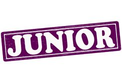Junior. Stamp with word junior inside,  ilustration Stock Photography