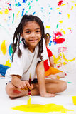 Junior student painting Stock Images