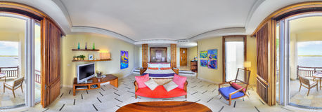 Junior suite in Le Touessrock hotel, Mauritius Royalty Free Stock Photos