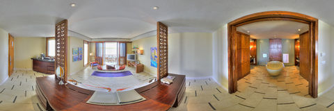 Junior suite in Le Touessrock, Mauritius Royalty Free Stock Photography
