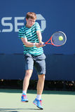 Junior tennis player Stefan Kozlov of United States in action during US Open 2014 match Royalty Free Stock Image