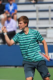 Junior tennis player Stefan Kozlov of United States in action during US Open 2014 match Stock Image