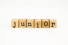 Junior wording isolate on white background Royalty Free Stock Photography