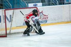 Juniora lodowy gracz w hokeja Zdjęcie Stock