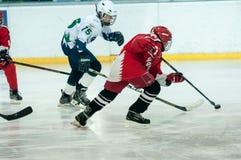 Juniora lodowy gracz w hokeja Fotografia Stock