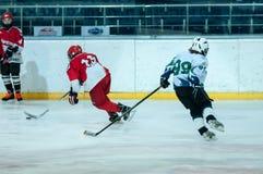 Juniora lodowy gracz w hokeja Obrazy Royalty Free