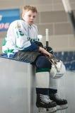 Juniora lodowy gracz w hokeja Obraz Stock
