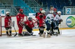 Juniora lodowy gracz w hokeja Zdjęcie Royalty Free