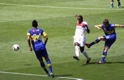 Juniors de Boca - PSG dans l'action Photographie stock