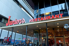 Juniors Restaurant by Times Square Stock Photography