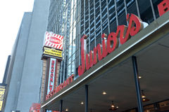Juniors Restaurant by Times Square Stock Images