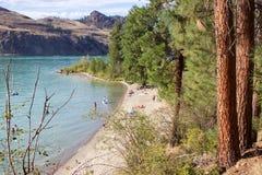 Juniper Bay beach at Kalamalka Lake Provincial Park, Vernon, B.C. Stock Images
