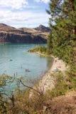 Juniper Bay beach at Kalamalka Lake Provincial Park, Vernon, B.C. Royalty Free Stock Photography