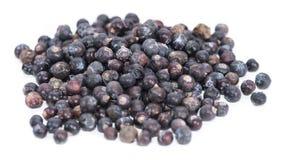 Juniper Berries over white Stock Images