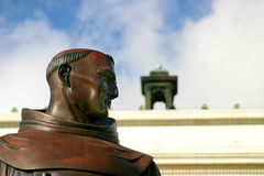 Junipero Serra. Statue in front of the city hall in Ventura California Royalty Free Stock Photography