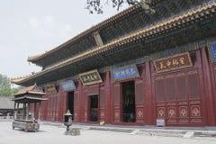 Junji Hall del tempio di Zhongyue nella città di Dengfeng, Cina centrale Fotografia Stock Libera da Diritti