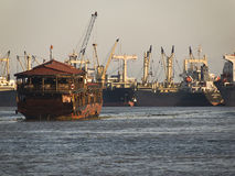 Junk. In the harbour from Saigon,Vietnam Stock Photography