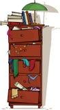Junk. Retro closet full of junk royalty free illustration
