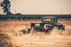 Junk Aged Pickup Royalty Free Stock Images