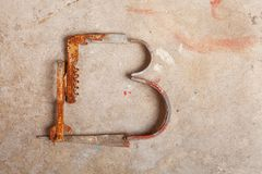 Junk Alphabet Royalty Free Stock Images