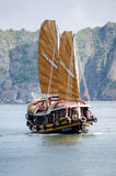 A Junk Boat. Junk Boat, Ha Long Bay, Vietnam Stock Image