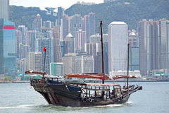 Junk boat. In hong kong royalty free stock photography