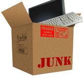 Junk Box royalty free illustration