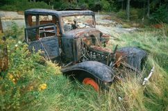 A junk car in Maine Royalty Free Stock Photo