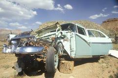 A junk car in South Utah Stock Photos