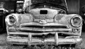 Junk car. Soviet car in a junk yard royalty free stock photo