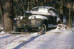 A junk car in Woodstock, New York Stock Photography