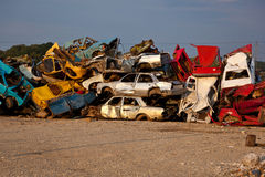 Junk Cars On Junkyard Stock Photos