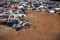 Junk Cars Landscape Royalty Free Stock Images