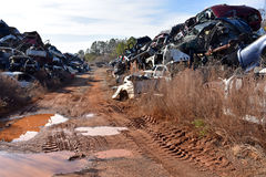 Junk Cars Landscape Royalty Free Stock Image