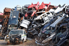 Junk Cars Stock Images