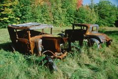 Junk cars in Vermont Royalty Free Stock Images
