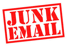 JUNK EMAIL Stock Image