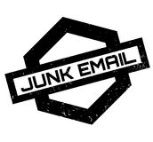 Junk Email rubber stamp Stock Photo